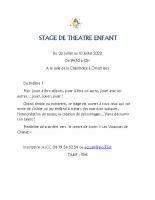 ALCC STAGE DE THEATRE ENFANT