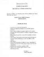 Ordre du jour conseil municipal du 13-02-2020
