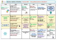 Programme Adultes et Familles Février 2021