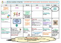 Programme Adultes et Familles Janvier 2021