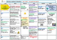 Programme Adultes et Familles juin 2021