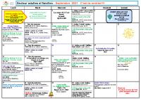 Programme Adultes et familles Septembre 2021