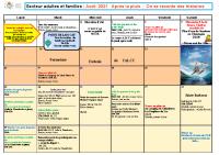Programme adultes et familles Aout 2021