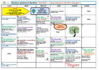 Programme adultes et familles Mai 2021