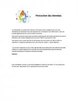 inscription ALSH protection des données