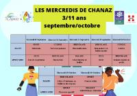 programme mercredis sept oct 2021