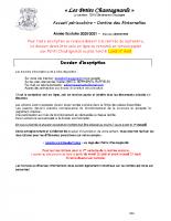 2020-2021 Dossier d'inscription PETITS CHAUTAGNARDS