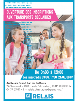 Affiche Transport scolaire – Permanence Ruffieux