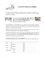 Info pass loisirs Motz rentrée 2020