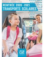 Livret transport scolaire 2020