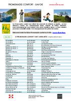 liste PROMENADES CONFORT – Savoie