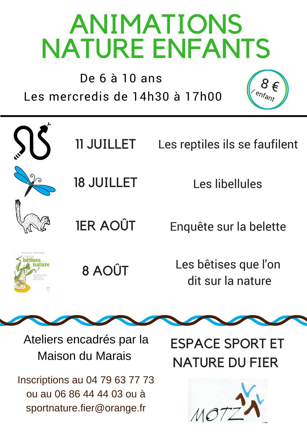 ANIMATIONS NATURE ENFANTS Il Reste Des Places Inscriptions Au 06 86 44 03 Ou Sportnaturefierorangefr