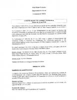Compte rendu du conseil municipal du 26 mai 2020