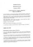 Compte rendu du conseil municipal du 23 juillet 2021