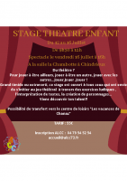 stage théâtre juillet 2021
