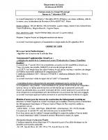 Compte Rendu du Conseil Municipal du 07-12-18