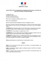 AP du 30 mars 2020 portant interdiction de fréquentation générale des parcs, aires de loisirs, des berges de lacs et de rivières et d'activités de montagne