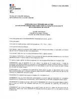 Arrêté Préfectoral du 17.10.2020