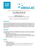 Annonce C – Veilleur de nuit Aqualac V2