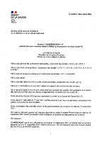 Arrêté Préfectoral du 16 septembre 21 pour freiner propagation COVID
