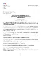 Arrêté préfectoral signé avec carte périmètre concerné